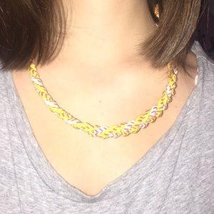 Braided Titanium Softball Necklace